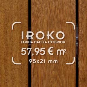 foto de suelo de tarima de iroko con precio de oferta