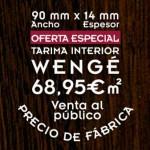 oferta de tarima de wengé para suelos de interior