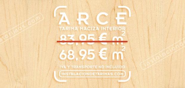 oferta de tarima de arce para suelos de interior madera con 19 mm de espesor