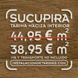Oferta de tarima de sucupira de madera maciza