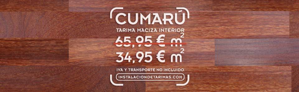 oferta de cumarú rojo con texto con precio