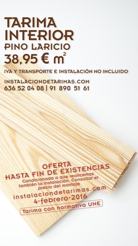 oferta de tarima de pino laricio
