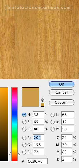 Análisis del color del iroko