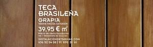 foto de teca brasileña con precio del presupuesto de tarima exterior