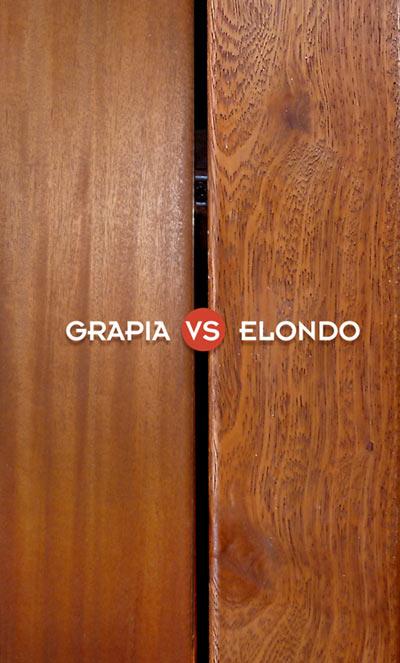 comparativa de elondo versus teca dorada o grapia