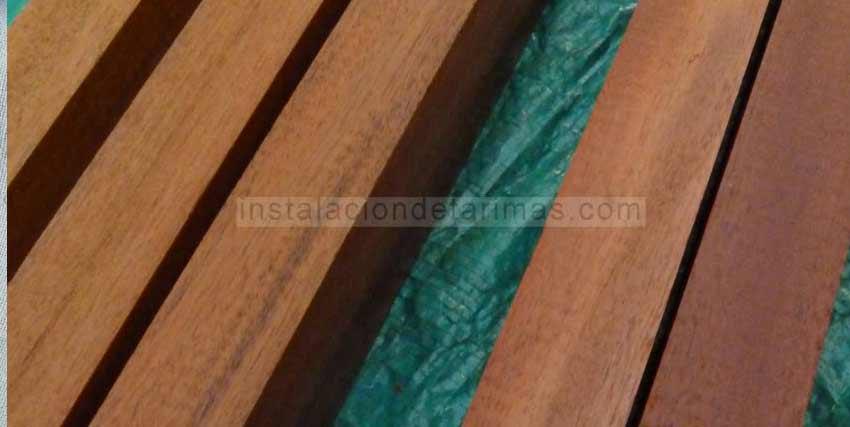 Foto de rastreles tropicales con la sección de 50 mm x 30 mm