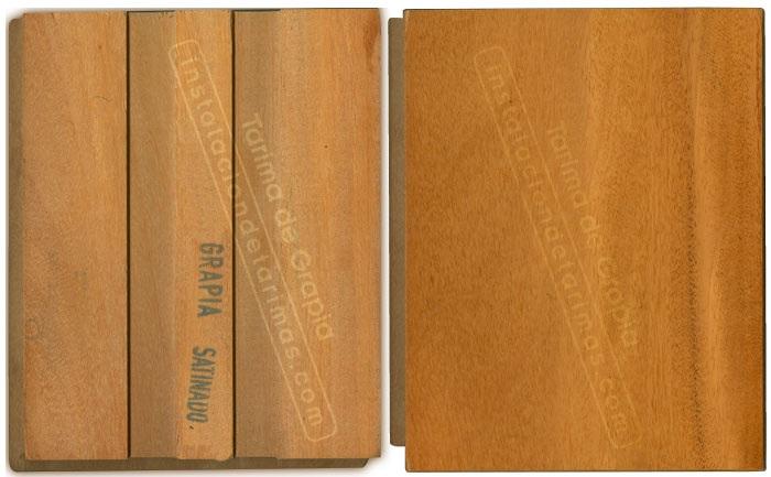Color de la oferta de tarima de madera maciza de grapia barnizada