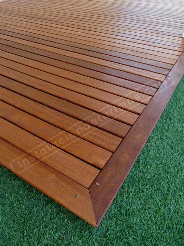 Tarima exterior con grapa vista desde 39 95 m2 - Suelos de madera exterior ...