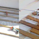 Fotos de instalación de tarima exterior de Elondo en Cartagena