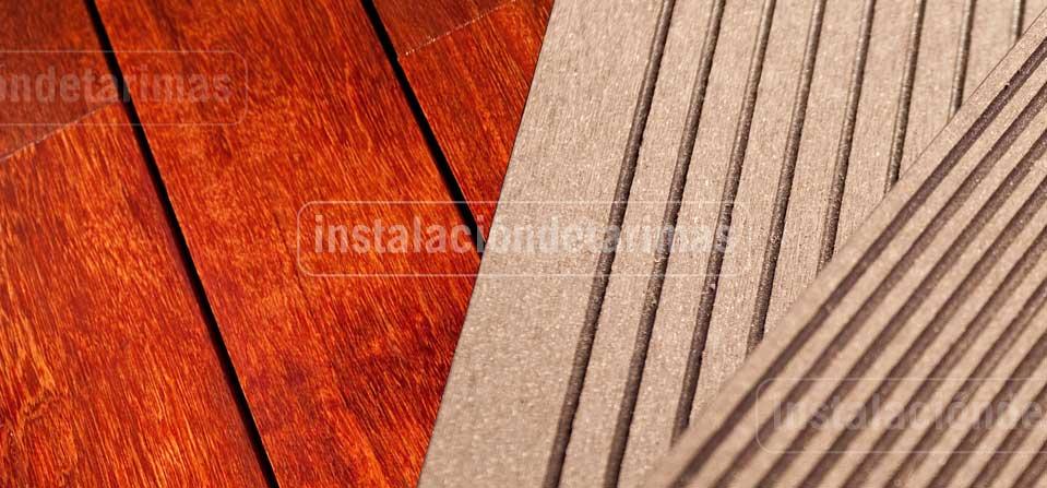 Comparativa entre la tarima de exterior tecnologica y madera maciza de exterior