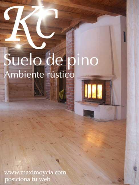 foto de casa con tarima de pino