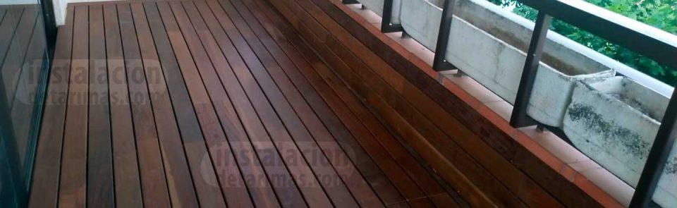 La mejor colocación de los rastreles en una terraza para una tarima exterior
